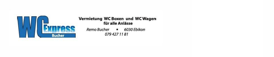 WC Express - Vermietung WC-Boxen, WC-Wagen, Duschwagon für alle Anlässe